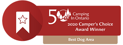 Best Dog Area Award - Camping in Ontario